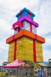 Torre colorido do presente fotos de stock royalty free