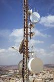 Torre com antenas Imagem de Stock
