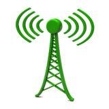 Torre com ondas de rádio Imagem de Stock