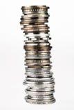 Torre combinada de monedas Fotografía de archivo libre de regalías
