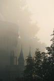 Torre como de cuento en la niebla Imágenes de archivo libres de regalías