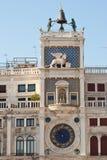 Torre con el reloj astronómico Foto de archivo