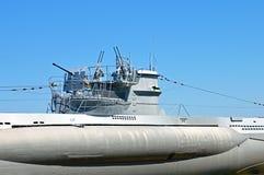 Torre con le pistole di un sottomarino Fotografie Stock Libere da Diritti