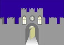 Torre con una puerta. Ilustración del Vector