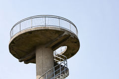 Torre concreta dell'allerta Immagine Stock Libera da Diritti