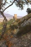 Torre consular de la fortaleza Genoese en la península de Crimea Imagen de archivo libre de regalías