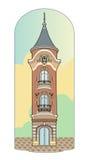 Torre cor-de-rosa Imagem de Stock Royalty Free