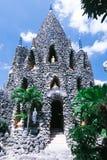 Torre coral no pagode Chua Oc foto de stock