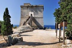 Torre costiera medievale Fotografia Stock