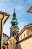 Torre da abadia de St Peter em Salzburg-Austia imagens de stock royalty free