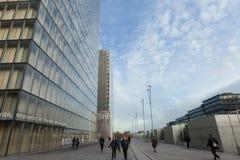 Torre da biblioteca nacional nova F Mitterand em Paris Imagem de Stock Royalty Free
