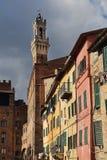Torre da câmara municipal de Siena, Itália Fotos de Stock