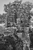 Torre da cara do templo de Bayon Fotografia de Stock Royalty Free