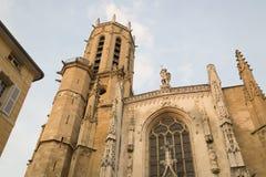 Torre da catedral, Aix-en-Provence; França Fotografia de Stock Royalty Free