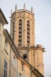 Torre da catedral, Aix-en-Provence; França Foto de Stock Royalty Free