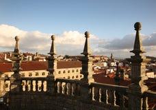 Torre da catedral de Santiago de Compostela imagem de stock