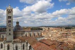 Torre da catedral de Siena, Itália Imagens de Stock Royalty Free