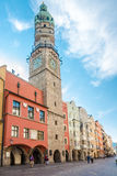 Torre da cidade de Innsbruck em Áustria Fotografia de Stock Royalty Free