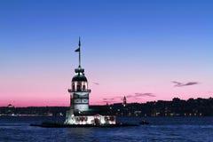 Torre da donzela foto de stock