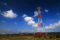 Torre da eletricidade Fotos de Stock