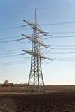 Torre da eletricidade para a energia com céu Foto de Stock Royalty Free