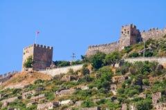 Torre da fortaleza em Alanya Fotografia de Stock Royalty Free