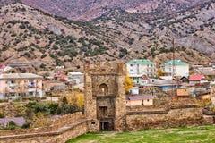 Torre da fortaleza Genoese Fotos de Stock Royalty Free