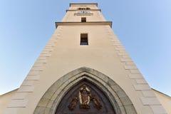A torre da igreja do St Markéta Imagens de Stock Royalty Free