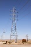Torre da linha eléctrica Imagem de Stock