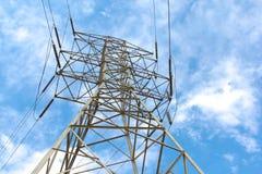 Torre da linha elétrica imagem de stock royalty free