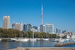 Torre da NC do panorama da arquitectura da cidade de Toronto Fotos de Stock