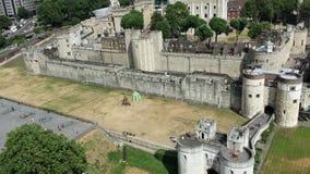 Torre da opinião de Londres de cima de Fotos de Stock Royalty Free