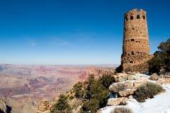 Torre da opinião do deserto da garganta grande imagem de stock