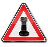 Torre da peça do jogo de xadrez ilustração stock