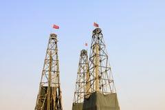 Torre da perfuração em uma mina do ferro Imagem de Stock