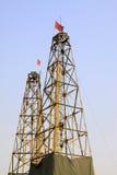 Torre da perfuração em uma mina do ferro Imagens de Stock Royalty Free