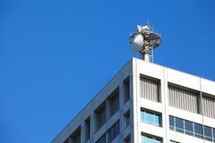 Torre da pilha e antena de rádio Imagem de Stock