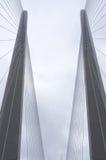 A torre da ponte cabo-ficada Fotografia de Stock Royalty Free