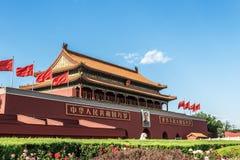 A torre da porta de Tiananmen Foto de Stock