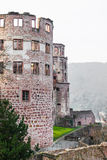 A torre da ruína do castelo de Heidelberg em Heidelberg Imagem de Stock