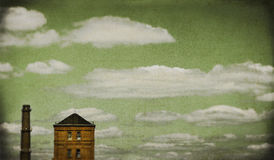 Torre da skyline Imagens de Stock