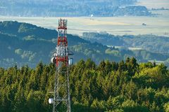 Torre da telecomunicação Imagem de Stock Royalty Free
