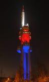 Torre da televisão de Zizkov em Praga Fotos de Stock Royalty Free