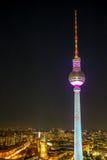 A torre da televisão em Berlim, Foto de Stock