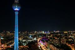 A torre da televisão em Berlim, Fotos de Stock
