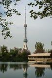 Torre da televisão em Tashkent Fotos de Stock Royalty Free