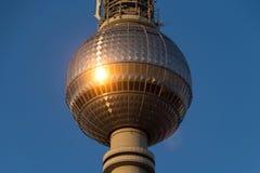 Torre da televisão de Berlim (Fernsehturm), Imagem de Stock Royalty Free