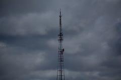 Torre da tevê fotos de stock