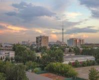 Torre 1 da tevê de Ostankino Fotografia de Stock Royalty Free