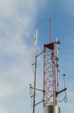 Torre da tevê e de antena de rádio Imagens de Stock